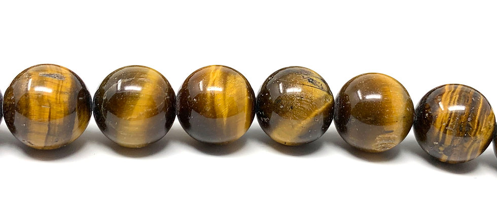 "15 mm Tiger Eye Round Beads 15.5""-16"" (Price per Unit of 5 Strands)"