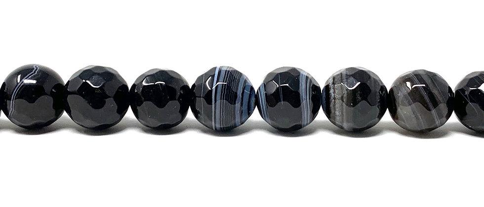 "10 mm Black Sardonyx Beads 15.5""-16"" (Price per Unit of 5 Strands)"