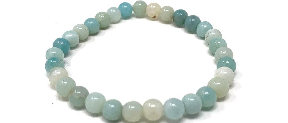 6 MM Amazonite Round Beads Bracelets (Price Per 10 Pieces Bag)