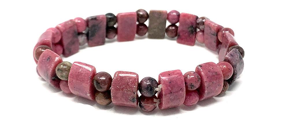 Rhodonite Tanker Bracelets (Price Per 10 Pieces Bag)