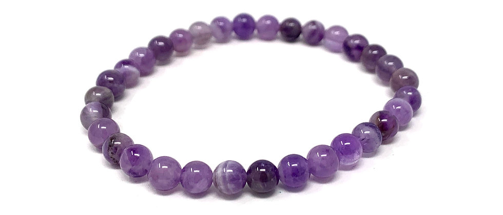 6 MM Amethyst Round Beads Bracelets (Price Per 10 Pieces Bag)