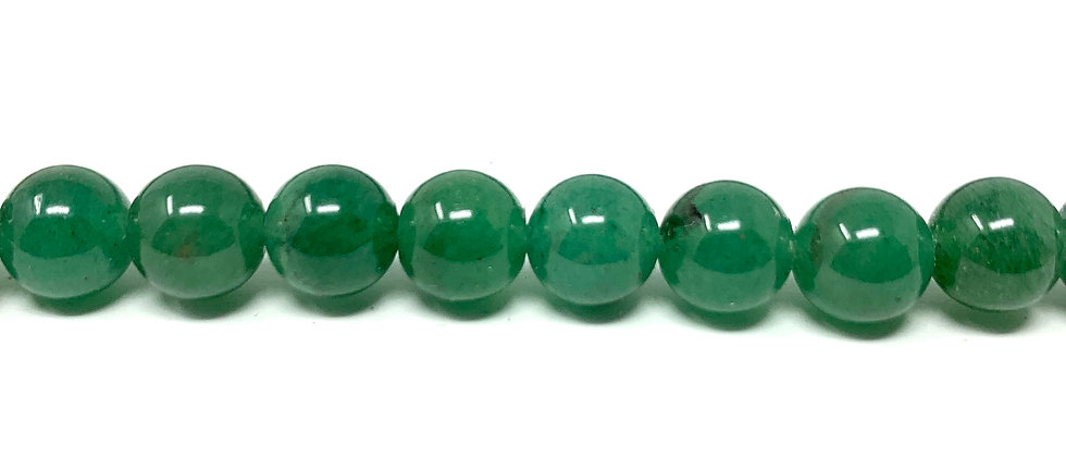 "8 mm Green Aventurine Round Beads 15.5""-16"" (Price per Unit of 5 Strands)"