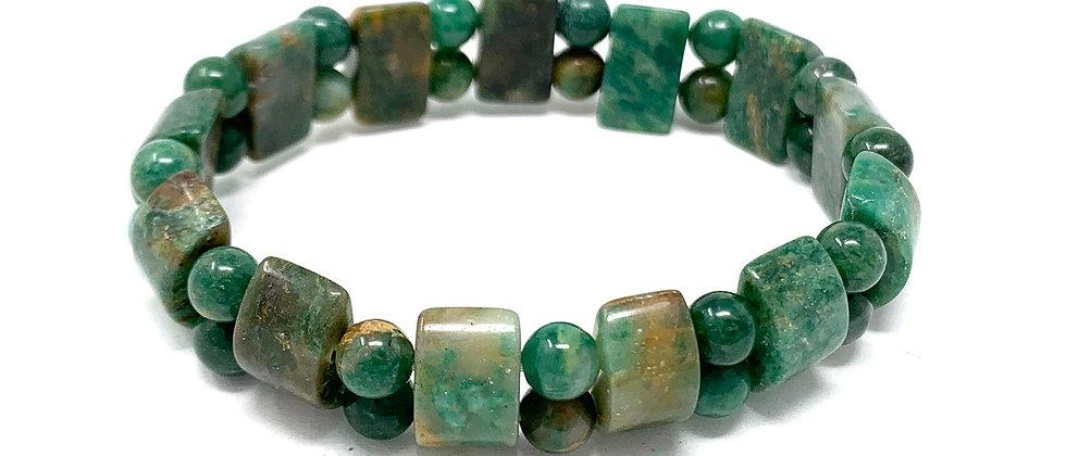 Green Jade Tanker Bracelets (Price Per 10 Pieces Bag)