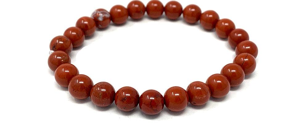 8 MM Red Jasper Round Beads Bracelets (Price Per 10 Pieces Bag)