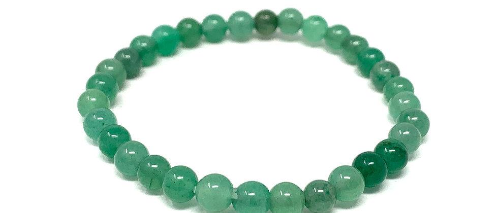 6 MM Green Aventurine Round Beads Bracelets (Price Per 10 Pieces Bag)