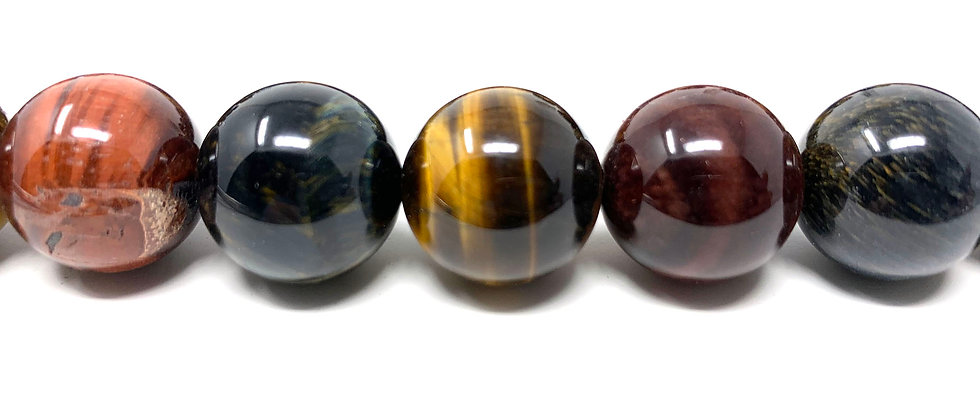 "18 mm Mix Tiger Eye Round Beads 15.5""-16"" (Price per Unit of 1 Strands)"