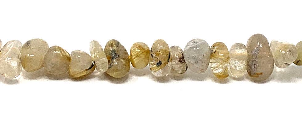 "15""-16"" Strand Rutilated quartz Quartz Beads (Price is per Unit of 5 Strand)"
