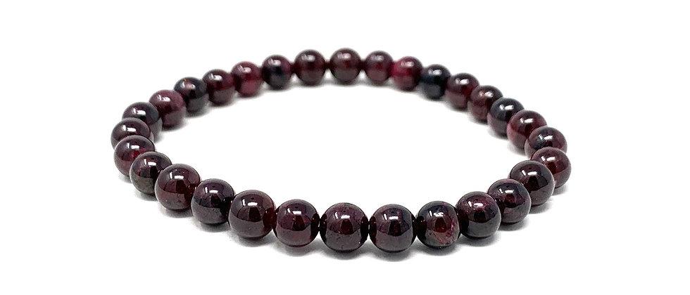 6 MM Garnet Round Beads Bracelets (Price Per 10 Pieces Bag)