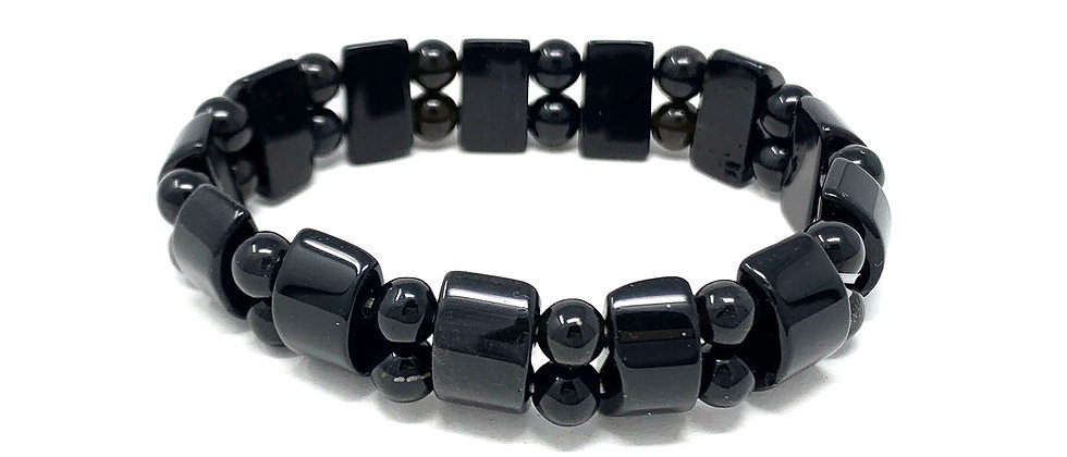 Black Jasper Tanker Bracelets (Price Per 10 Pieces Bag)