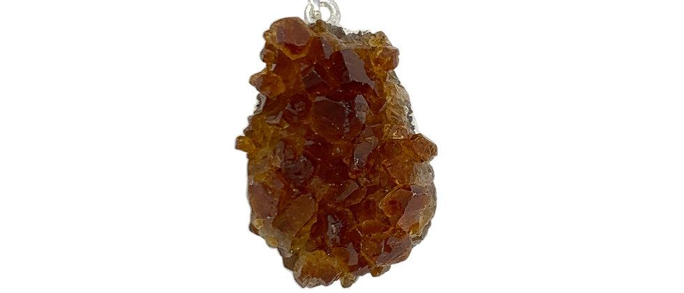 Citrine Druze Medium size S/P Pendant. (Price is per Bag of 10 Pieces)