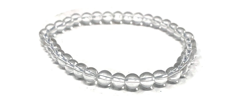 6 MM Clear Quartz Round Beads Bracelets (Price Per 10 Pieces Bag)