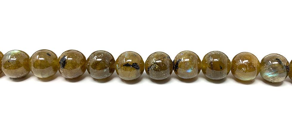 "10 mm Labradorite Round Beads  15.5""-16"" (Price per Unit of 5 Strands)"