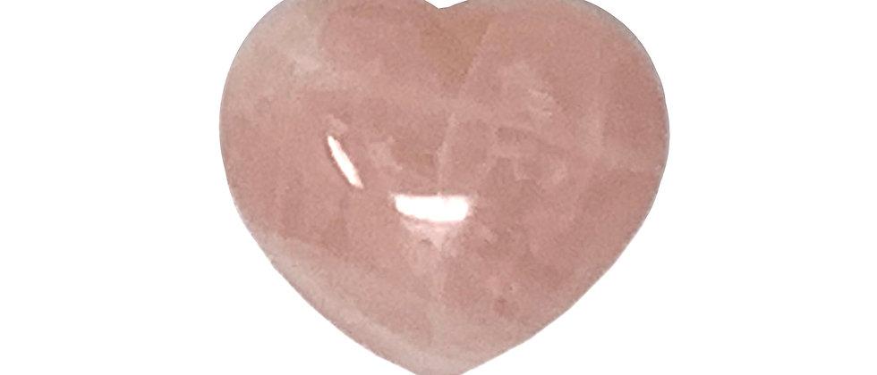45X40X25MM Rose Quartz Puffy Heart (Price is Per 12 Pcs Box)
