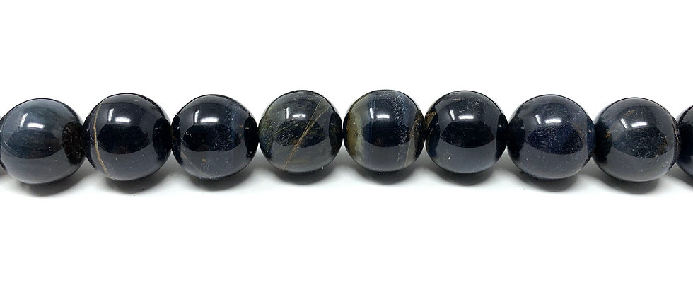 """12 mm Blue Tiger Eye Round Beads 15.5""""-16"""" (Price per Unit of 5 Strands)"""