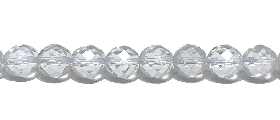 8 mm Faceted Natural Crystal Quartz (Price is per Unit of 5 Strand)