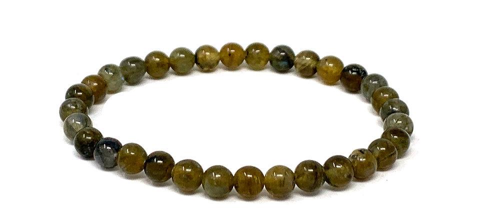 6 MM Labradorite Round Beads Bracelets (Price Per 10 Pieces Bag)