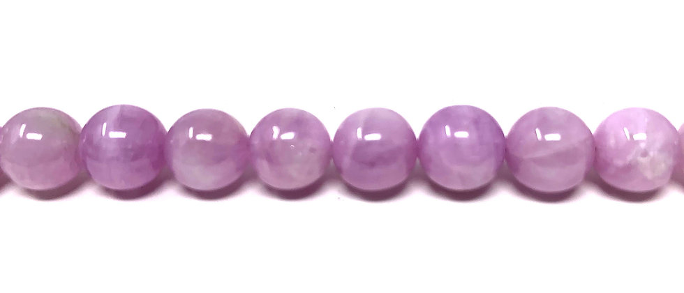 "10 mm Kunzite Round Beads 15.5""-16"" (Price per Unit of 1 Strands)"