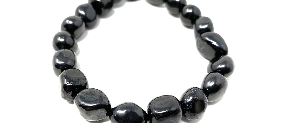 7-10mm Shungite  Tumbled  BRACELET (Price is for 10 Pieces Bag) (Avg. $4.56/PC)