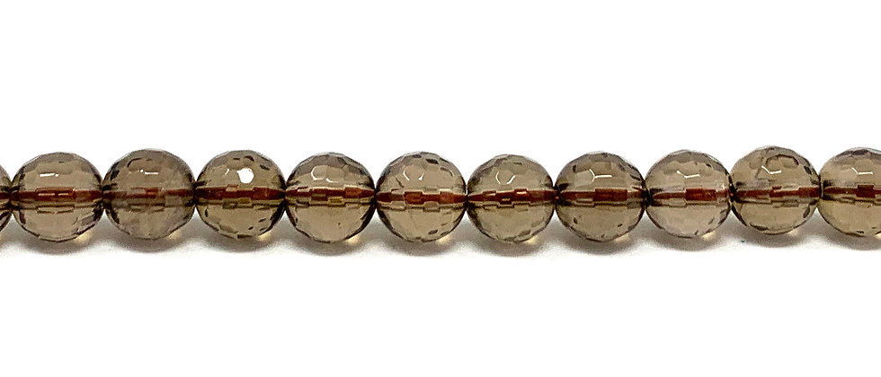 6 mm Faceted Smokey Quartz Beads (Price is per Unit of 5 Strand)