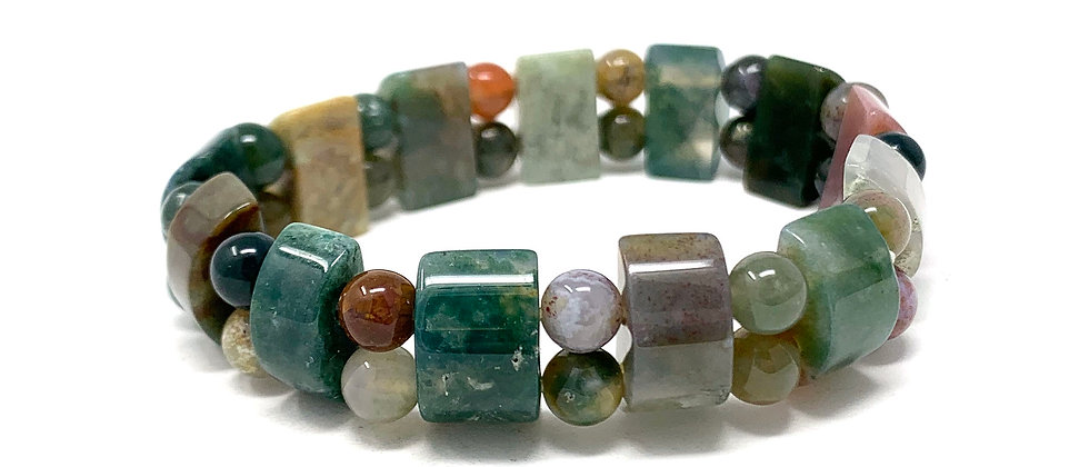 Indian Agate Tanker Bracelets (Price Per 10 Pieces Bag)