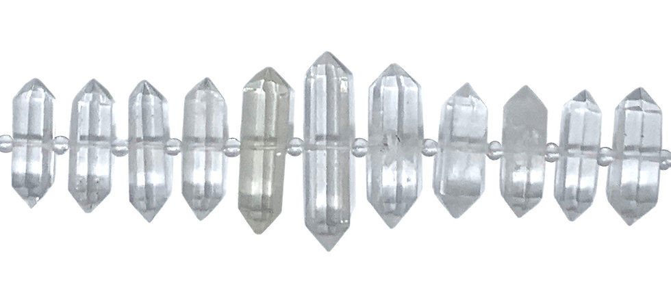 Graduated Natural Clear Quartz D.T Point Beads (Price is per Unit of 1 Strand)