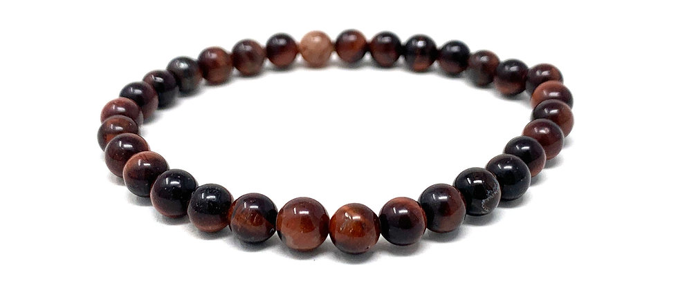 6 MM Multicolor Tiger Eye Round Beads Bracelets (Price Per 10 Pieces Bag)
