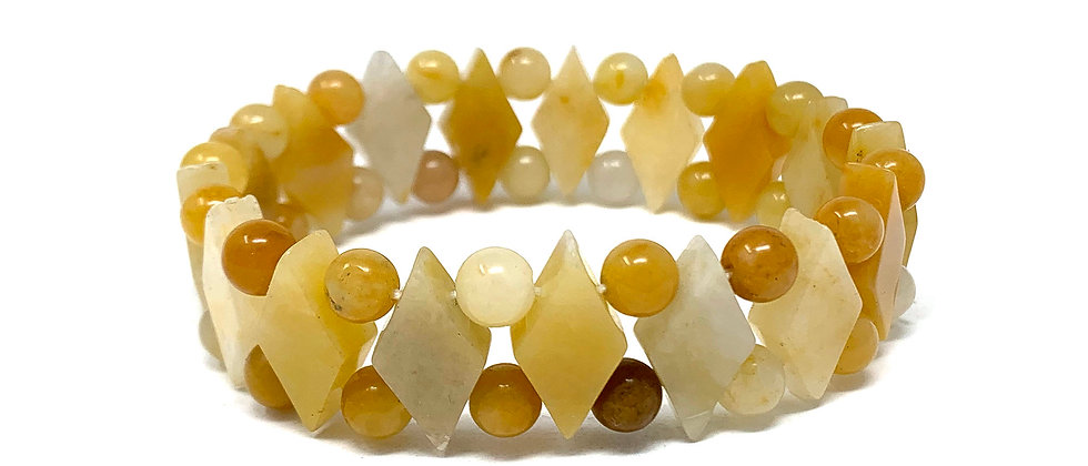 Yellow Jade Princess Bracelets (Price Per 10 Pieces Bag)
