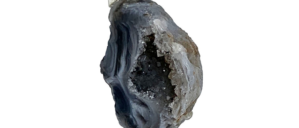 Half geode with bail style S/P Pendant. (Price is per Bag of 10 Pieces)