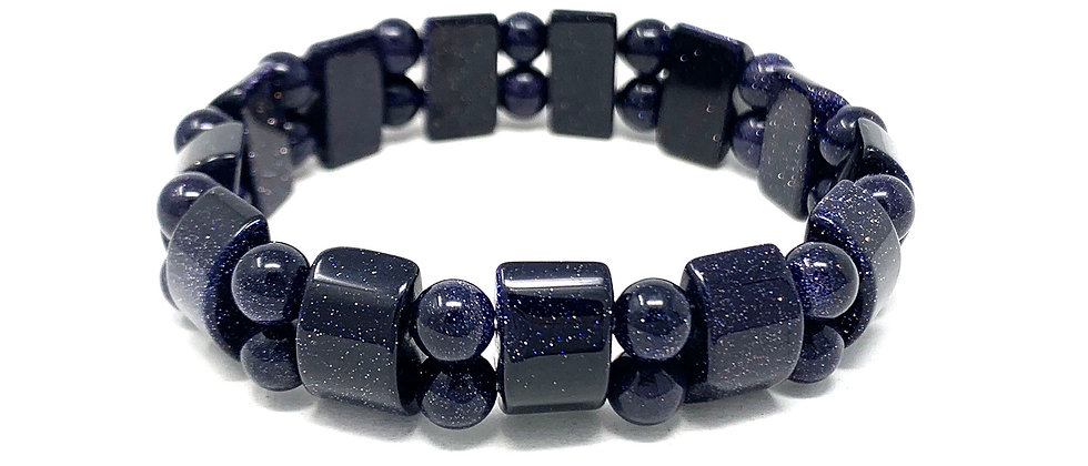 Blue Goldstone Tanker Bracelets (Price Per 10 Pieces Bag)