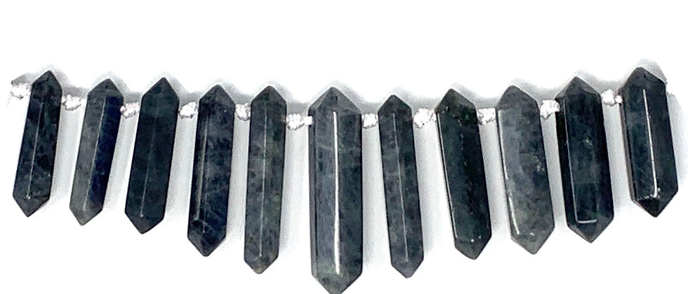 Graduated Labradorite/Amazonite D.T Point Beads (Price is per Unit of 1 Strand)