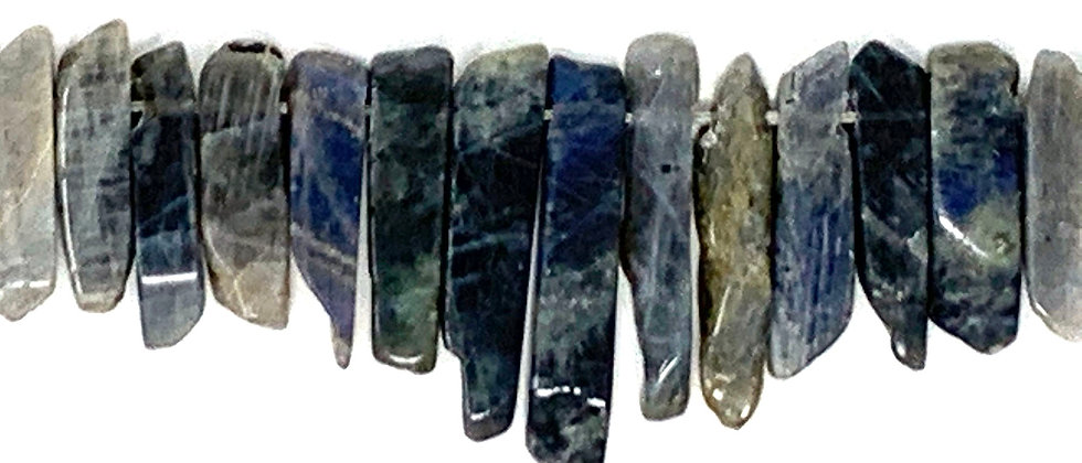 Natural Labradorite Stick Beads (Price is per Unit of 1 Strand)