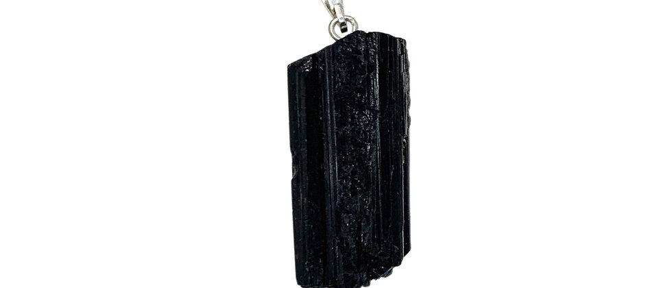 black tourmaline rough style plain S/P Pendant. (Price is per Bag of 10 Pieces)
