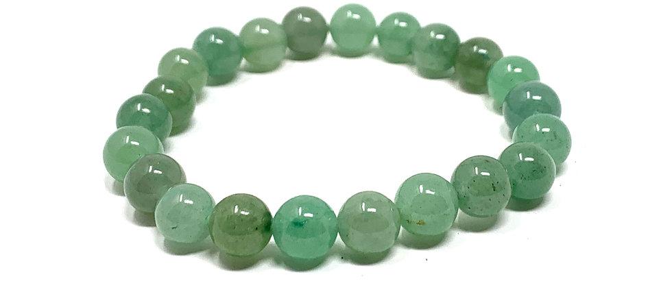 8 mm Round Green Aventurine Stretch Bracelet  (Price is Per 10 Pieces Bag)