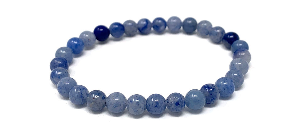 6 MM Brazil Blue Qtz. Round Beads Bracelets (Price Per 10 Pieces Bag)