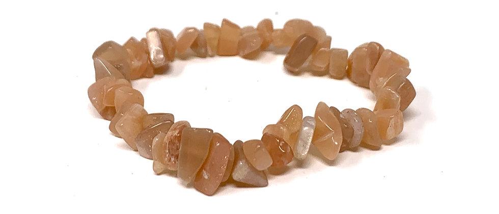 Sunstone Single Chips Elastic Bracelet  (Price is Per 10 Pieces Bag)