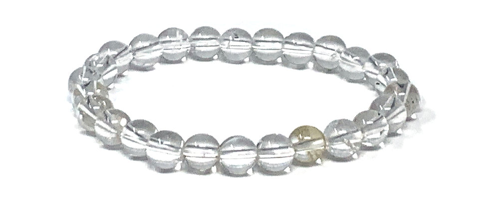 8 mm Round Crystal/Inclusion Elastic Bracelet  (Price is Per 10 Pieces Bag)