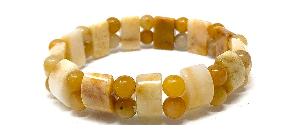 Yellow Jade Tanker Bracelets (Price Per 10 Pieces Bag)