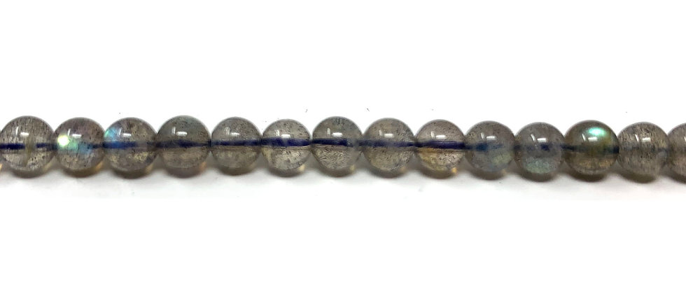 "4 mm Labradorite Round Beads (AA) 15.5""-16"" (Price per Unit of 5 Strands)"