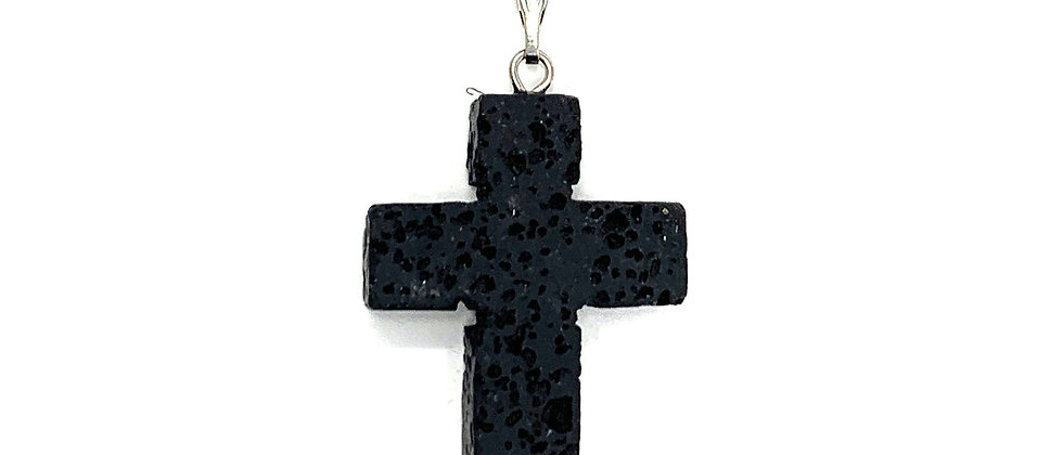 22X30MM LAVA Adj, Cord Cross Pendant (Price Per 18 Pieces Tray)