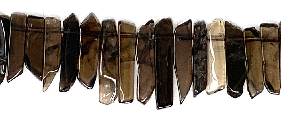 Natural Smokey Quartz Stick Beads (Price is per Unit of 1 Strand)