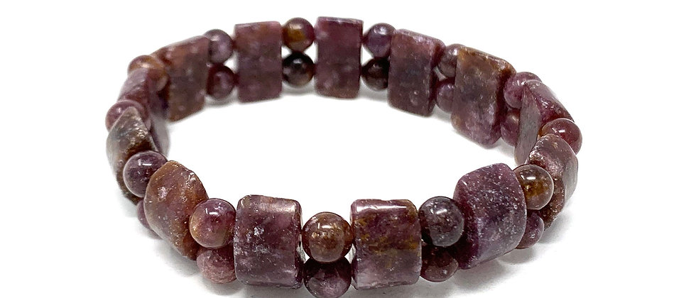 Lepidolite Tanker Bracelets (Price Per 10 Pieces Bag)