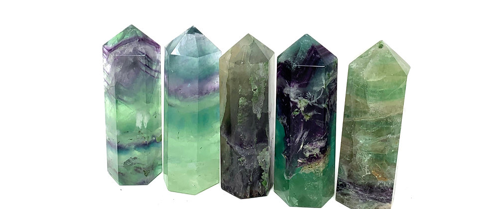 Natural Fluorite Points 7.5 CM (Price is per 5 Pieces Package)