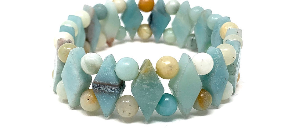 Amazonite Princess Bracelets (Price Per 10 Pieces Bag)