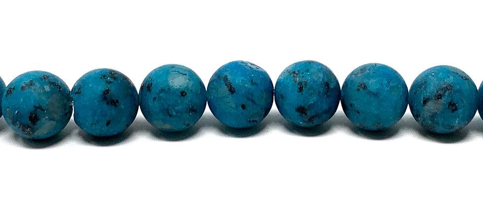 12 mm Plain Round Kiwi Turquoise(Matt) Beads (Price is per Unit of 5 Strand)