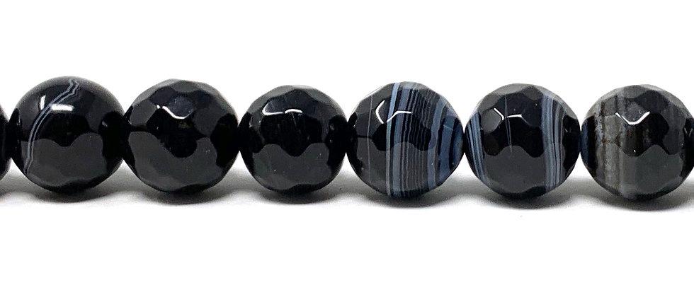 "12 mm Black Sardonyx Beads 15.5""-16"" (Price per Unit of 5 Strands)"