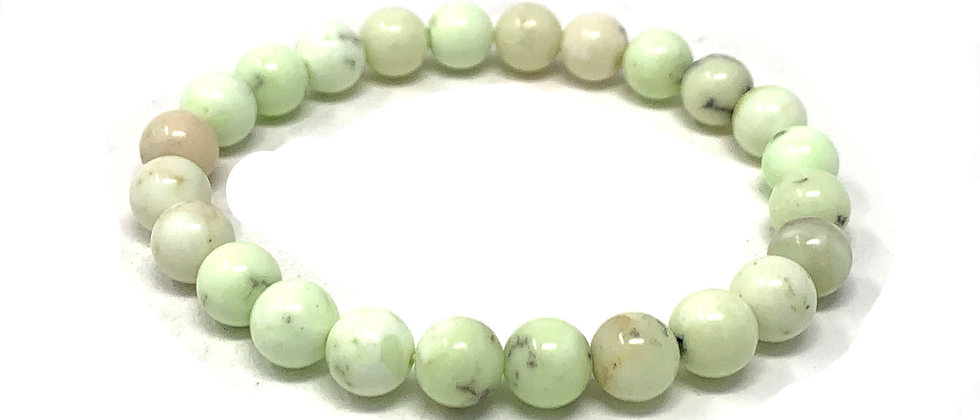 8 MM Lemon Chrysoprase Round Beads Bracelets (Price Per 10 Pieces Bag)