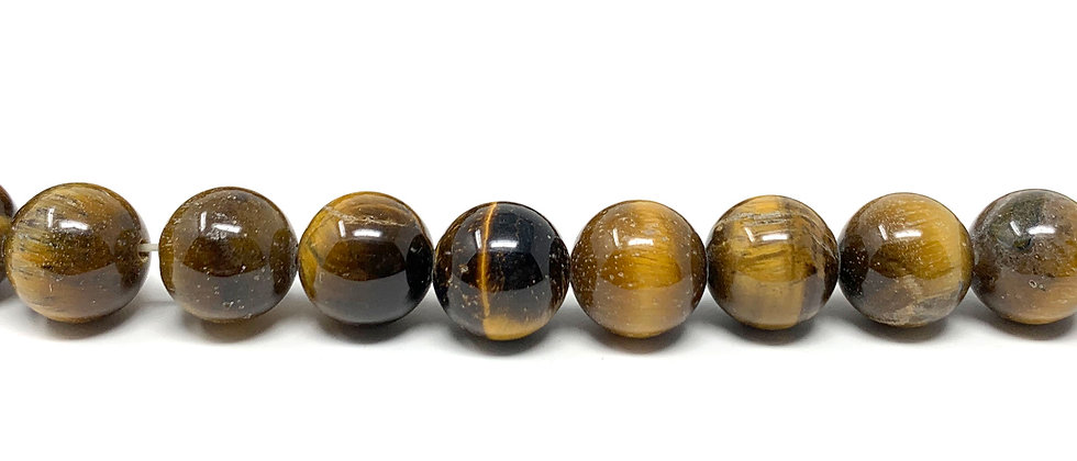 "8 mm Tiger Eye Round Beads 15.5""-16"" (Price per Unit of 5 Strands)"