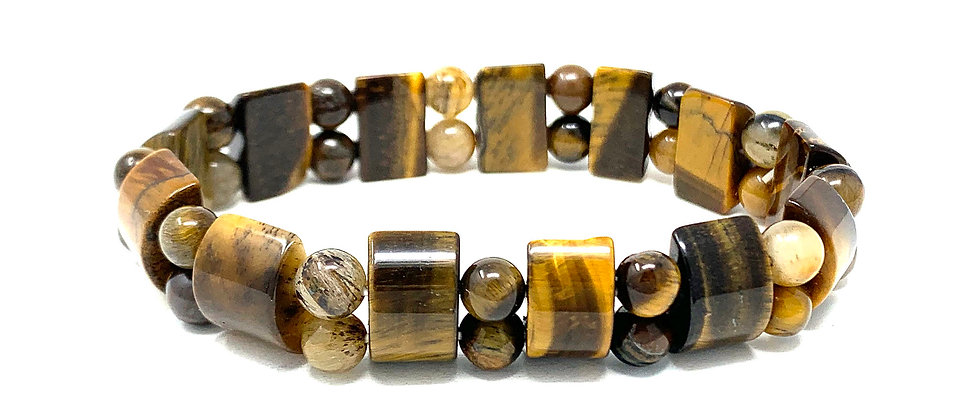 Tiger Eye Tanker Bracelets (Price Per 10 Pieces Bag)