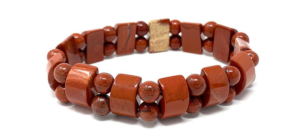 Red Jasper Tanker Bracelets (Price Per 10 Pieces Bag)