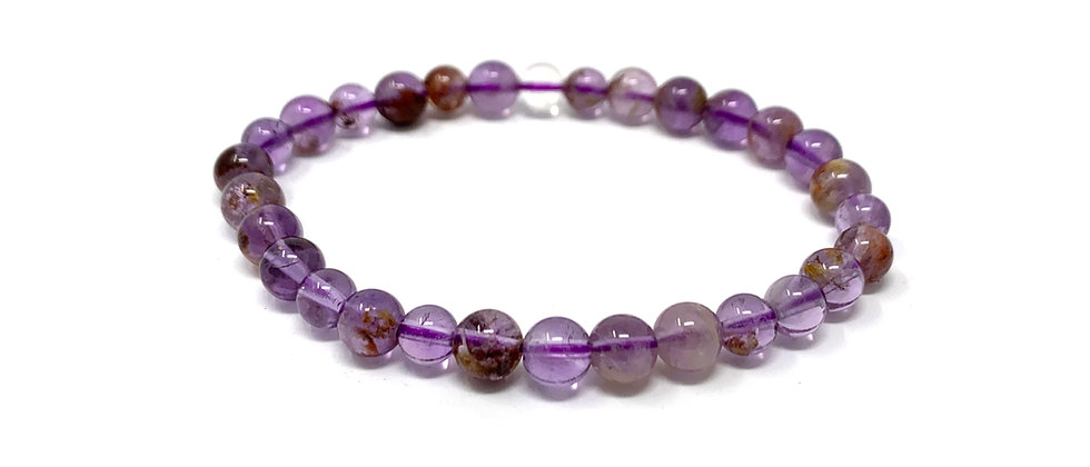 6 mm Round Super 7 Phantom Amethyst Bracelets  (Price is Per 10 Pieces Bag)